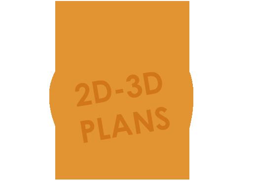 2D - 3D FLOOR PLANS