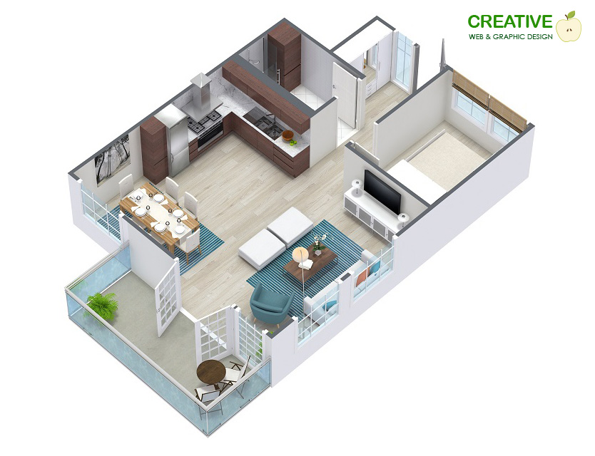 Floor Plan Graphic Design