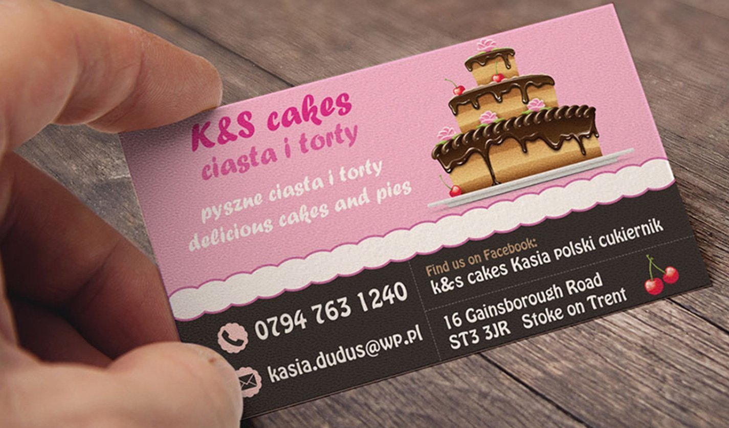 K&S Cakes - Business Cards - Web & Graphic Design Agency - Stockport