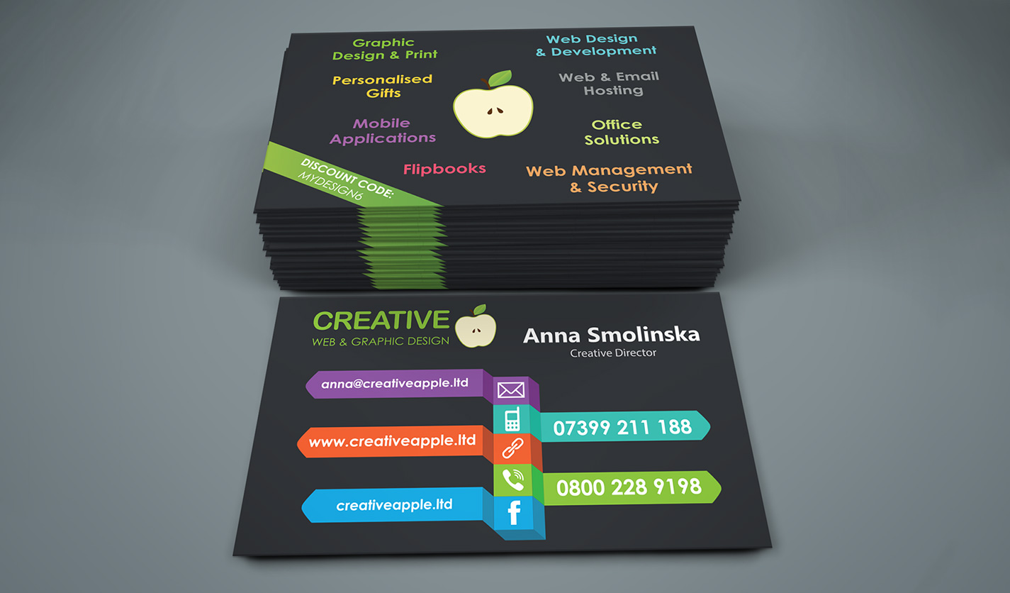 Creative apple am ltd business cards web graphic design creative apple am ltd business cards colourmoves