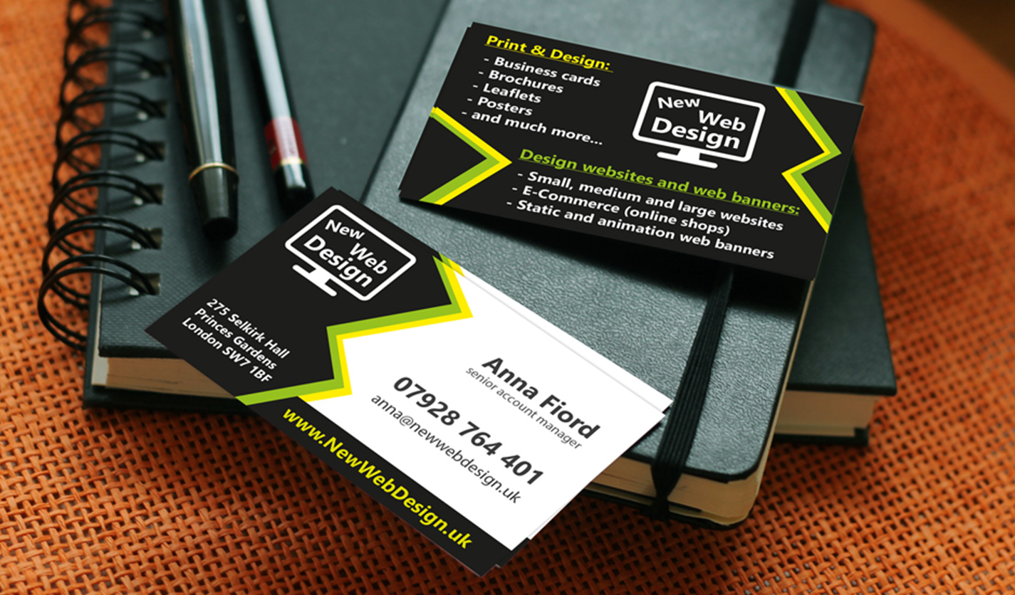New Web Design - Business Cards - Web & Graphic Design Agency ...