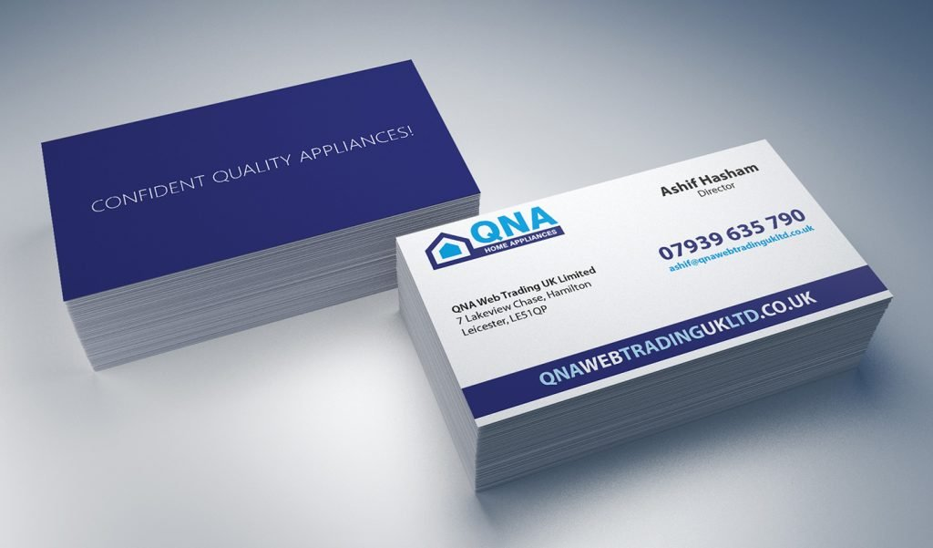 Print design web graphic design agency greater manchester qna web trading uk ltd business cards reheart Gallery