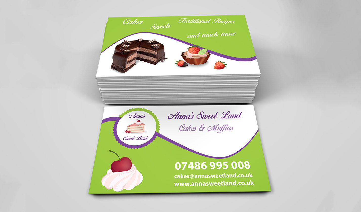 Annas Sweet Land Business Cards Web Graphic Design Agency