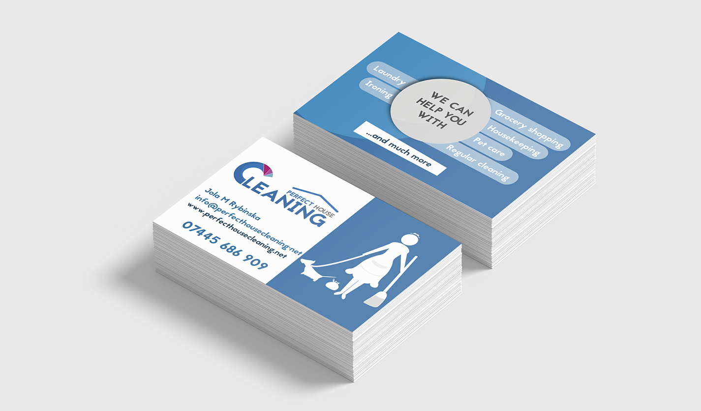 Business cards stockport best business cards for House cleaner business cards